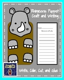 Rhinoceros Craft for Kindergarten: Puppet (Zoo, Summer, Animal Research)