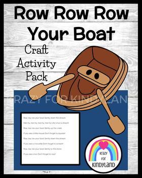 Row Row Row Your Boat Craft and Activity (Nursery Rhyme, Summer)
