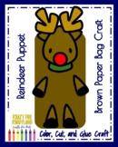 Rudolph Book Companion Craft for Kindergarten: Reindeer Puppet (Christmas)