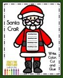 Santa Craft and Christmas List Writing Activity for Kindergarten