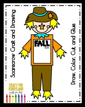 Scarecrow Craft and Drawing (Fall, Autumn)