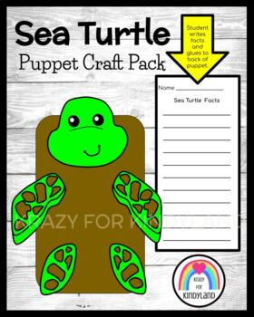 Sea Turtle Craft: Puppet (Ocean, Animal Research)