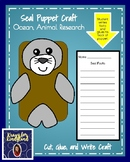 Seal Craft for Kindergarten: Puppet (Ocean, Animal Research, Summer School)