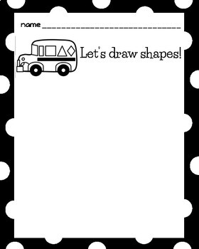 Shape Bus Craft (Back to School, First Day)