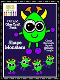 Shape Monster Craft Pack for Kindergarten (Halloween, Trick-or-Treat, Fall)