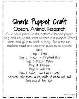 Shark Craft: Puppet (Ocean, Animal Research)