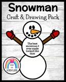 Snowman Craft & Drawing for Kindergarten: My Best Snowman (Winter, January)