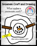 Snowman Craft and Drawing: What makes a snowman melt? (Winter, January)