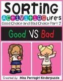 Sorting Activities Life's Good Choice and Bad Choice Part 2