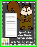 Squirrel's New Year's Resolution Book Companion Craft for Kindergarten