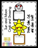 Outer Space Activity with Sun & Moon Craft & Drawing Prompt for Literacy Center