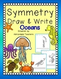 Freebie Symmetry Draw & Write Ocean Creatures