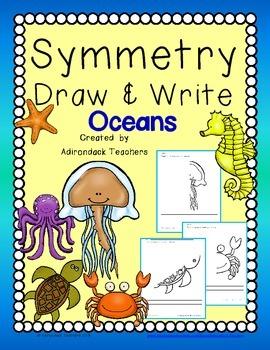 Freebie Symmetry Draw & Write Ocean Creatures