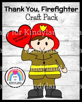 Thank you, Firefighter Craft (Fire Safety, Community Helpers)