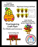Thanksgiving Craft Pack (Pilgrims, Native Americans/ Indians)