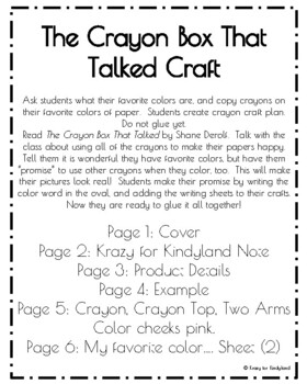 The Crayon Box That Talked Book Companion Craft (Back to School, First Day)