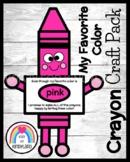 Back to School Crayon Craft: My Favorite Color Activity