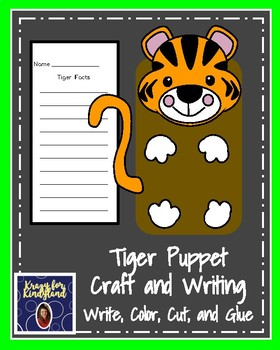 Tiger Craft for Kindergarten: Puppet (Zoo, Summer, Animal Research)
