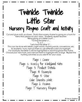Twinkle Twinkle Little Star Craft and Activity (Nursery Rhyme, Night, Moon)