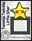 Twinkle Twinkle Little Star Nursery Rhyme Craft, Letter Hunt Literacy Activity