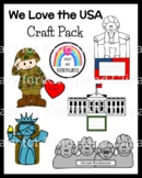 USA Craft Bundle for Kinder (US Symbols, Veterans, Presidents, Vote, Election)