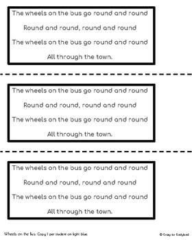 Wheels on the Bus Craft and Activity (Nursery Rhyme, Back to School)