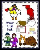 Winter Craft Bundle: Hedgie, Bear, Tacky the Penguin, Winter Kids, Snowy Day