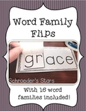 Word Family Flips!  Word families