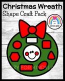 Christmas Shape Craft with Wreath Math Activity for Kindergarten (Holidays)
