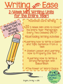 Freebie-Writing with Ease-Paragraph Every Two Weeks