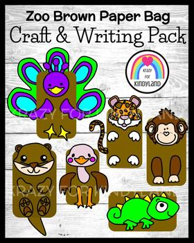 Zoo Craft and Writing Bundle for K: Puppets (Summer, Animal Research)