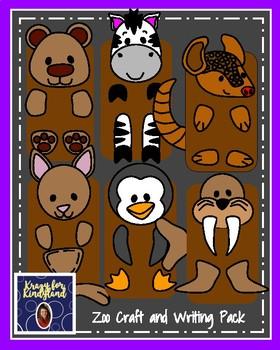 Zoo Craft Pack: Puppets (Bear,Zebra,Armadillo,Kangaroo,Penguin,Walrus)