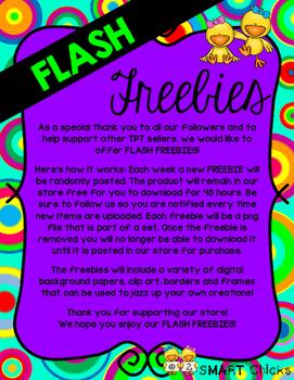 Flash Freebies {Note to Followers}
