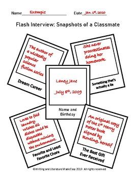 Flash Interview: Snapshot of a Classmate