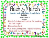 Flash & Match Vocabulary and Definition Cards Go Math Seco