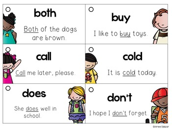 Dolch Sight Word and Sentence Flash Cards