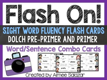 Pre-Primer and Primer Dolch Sight Word/Sentence Flash Cards