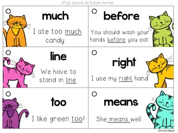 Fry's First 300 High Frequency Words and Sentence Flash Cards