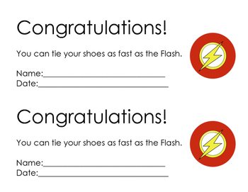 Flash-Shoe Tying Award
