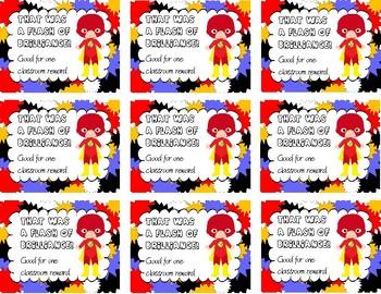 Flash Superhero Reward Tickets