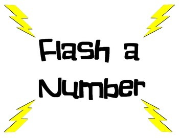 Flash a Number Subitizing