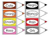 Flash card colors, bilingual