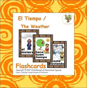 Flashcards El tiempo / Spanish Weather