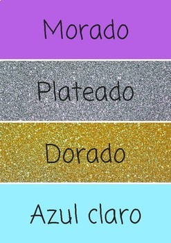 Flash cards colores
