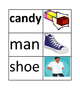 Flash cards of nouns and pictures