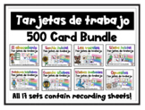 Task Cards and Recording Sheets in Spanish- Tarjetas de tr