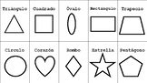 FlashCards - Formas en Español- En Blanco Y Negro