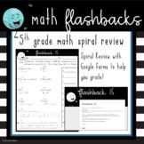 5th Grade Math Spiral Review Digital Worksheets - Distance