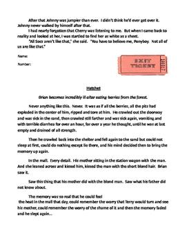 Flashback Literature Graphic Organizer Grade 5 and 6 Reading Street