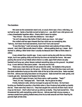 Flashback Literature Graphic Organizer Grade 5 and 6 Readi